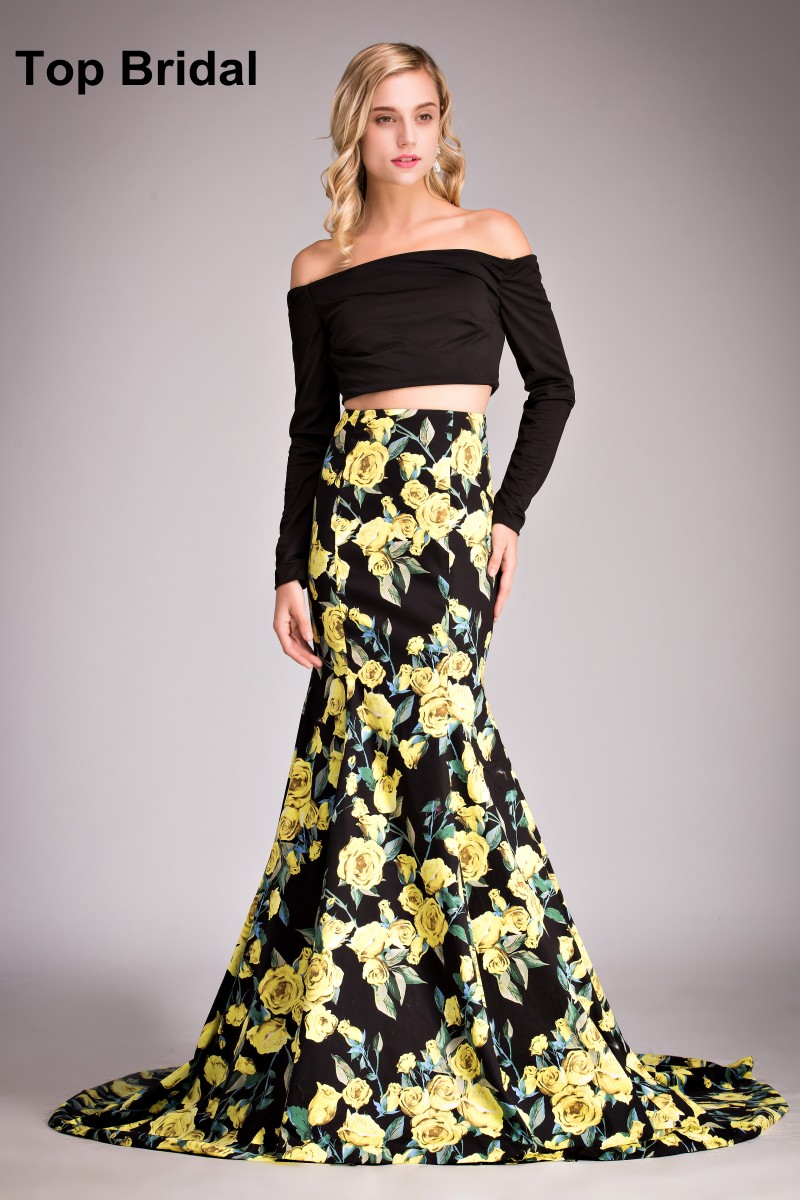 Yellow Off the Shoulder Mermaid Prom Dress