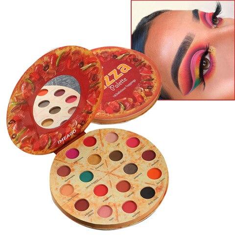 pizza imeago 18 cor da paleta da sombra glitter shimmer matte maquiagem olhos po pigmentado