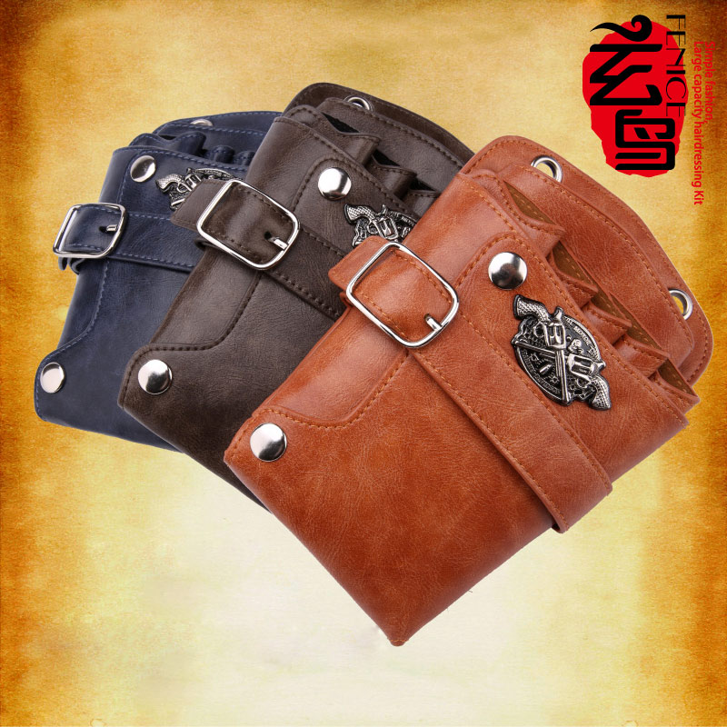High Quality PU Leather Barber Hair Scissors Bag Case Salon Hairdressing Holster Pouch Case Hair Styling Tools high quality pu leather barber hair scissors bag case salon hairdressing holster pouch case hair styling tools
