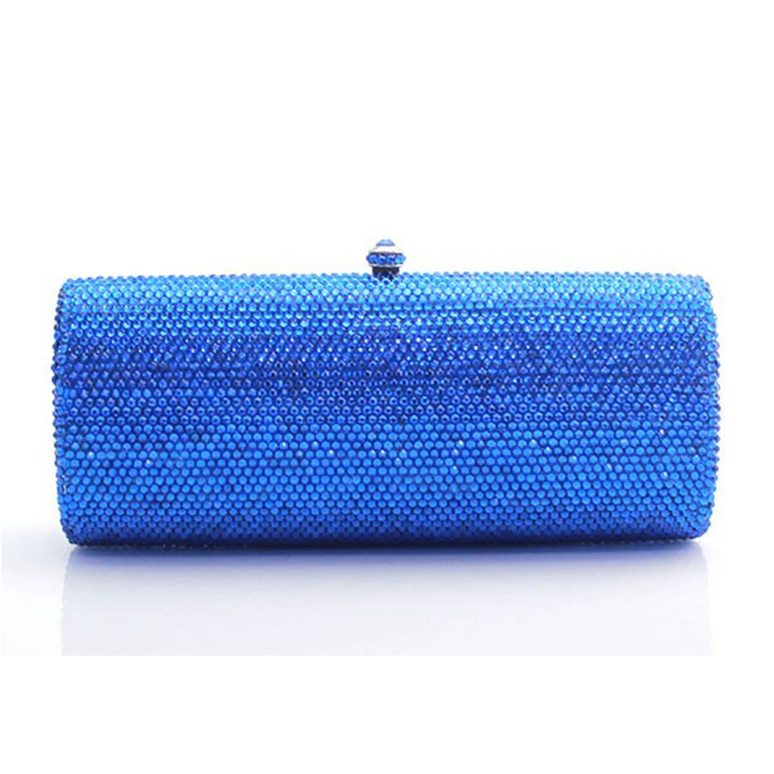 XIYUAN BRAND Women BLUE Diamonds crystal wedding Evening Bags Beaded Day Clutches Handbags Handmade Bags clutch Purse Wallet women colorful handbags crystal beaded day clutches ladies chain evening bags messenger bags clutch pouch purse wallets for lady