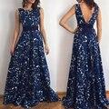 Diseñador elegante largo backless dress 2017 vestidos de fiesta largos ves tido larga party dress