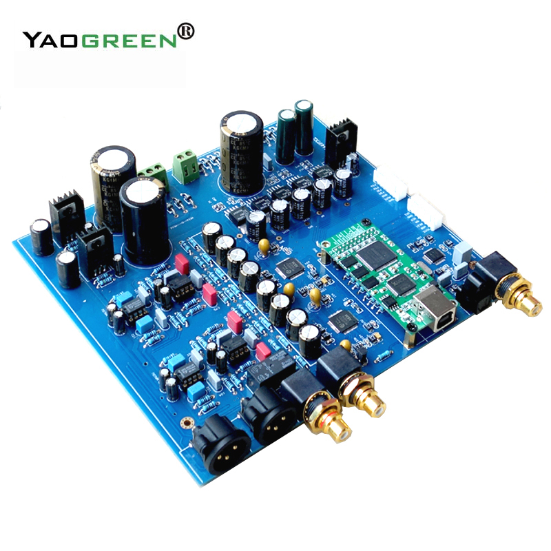 Dual AK4497 DAC decoder amplifier AK4118 32bit 384K DSD DAC board DIY kit without XMOS USB цена