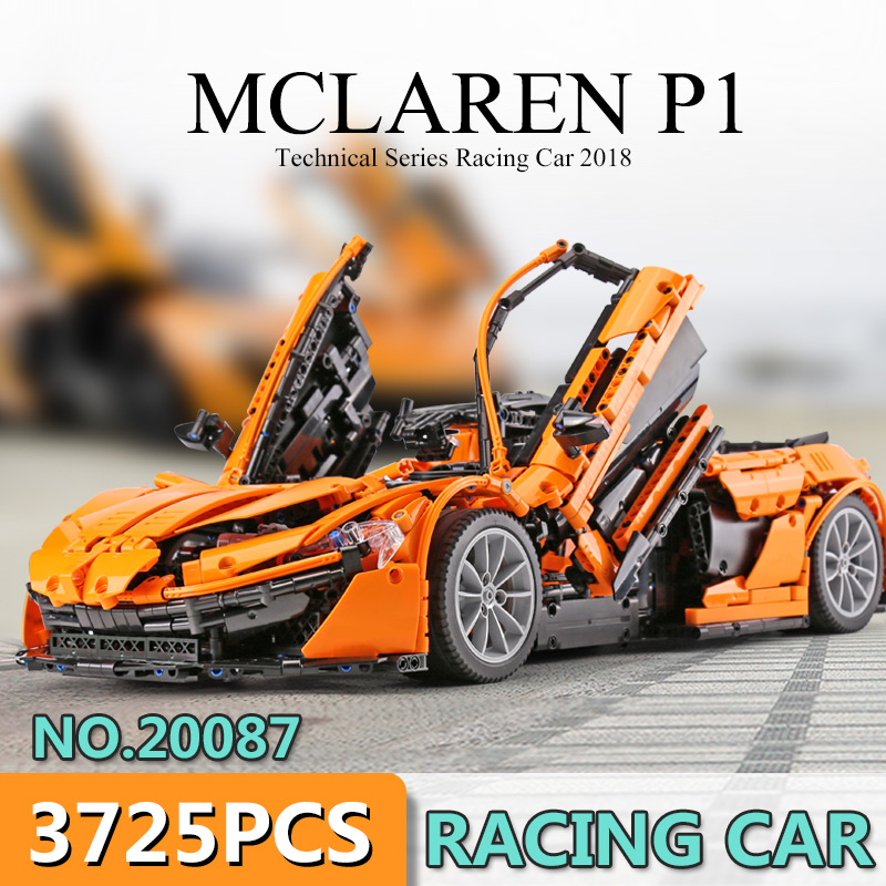DHL Лепин 20087 техника legoingly MOC 16915 оранжевый Супер гоночный автомобиль набор строительный блок кирпичи детские игрушки модель автомобиля рожд