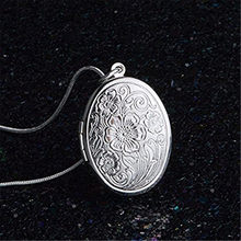 Necklace Women Necklace Men collares de moda 2019 925 Sterling Silver Rose Round Locket Necklace Box Snake Chain Jewelry(China)
