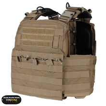 TMC Molle, porte plaques cerise, Version 2016, gilet militaire, équipement de Combat TMC2355, authentique marron noir