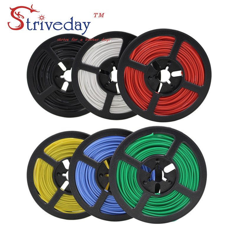 100 meter/rolle (328ft) 28AWG hohe temperatur widerstand Flexible silikon draht verzinnten kupfer draht RC power Elektronische kabel