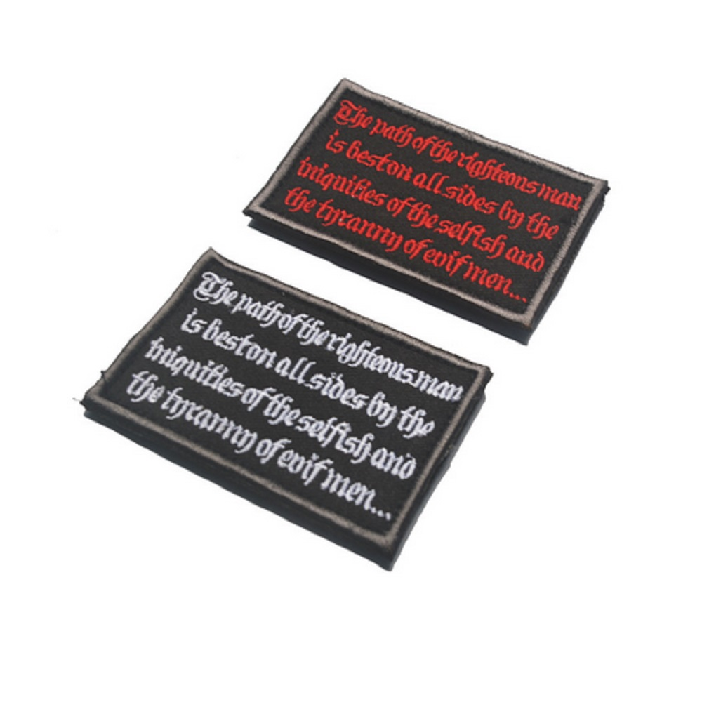 25pcs/lot 3D embroidery patches Loops and hook The road of Justice patches Path of Justice patches badges armband