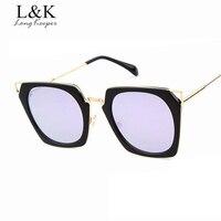 Long Keeper Unique Hexagon Square Sunglasses Women Men Fashion Brand Designer Oculos Masculino High Quality Glasses