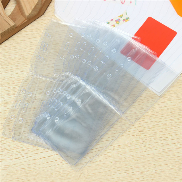 Plastic Transparent ID Card Holder 20 pcs Set