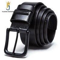 FAJARINA Top Quality Retro Styles 100 Pure Genuine Leather Belts Handmake Cowhide Sewing Pin Buckle Belt