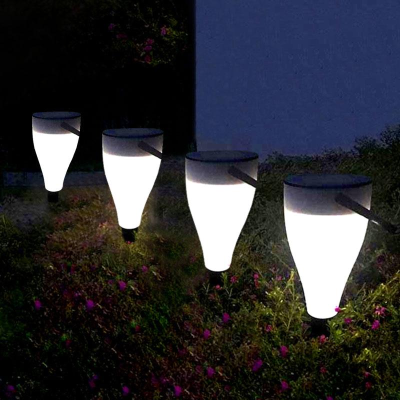 led solar lampada do gramado ao ar livre luzes jardim quintal patio paisagem a prova dwaterproof