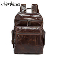 Norbinus мужской рюкзак из натуральной кожи сумка для ноутбука большой емкости мужской рюкзак для путешествий школьная сумка для подростков ма