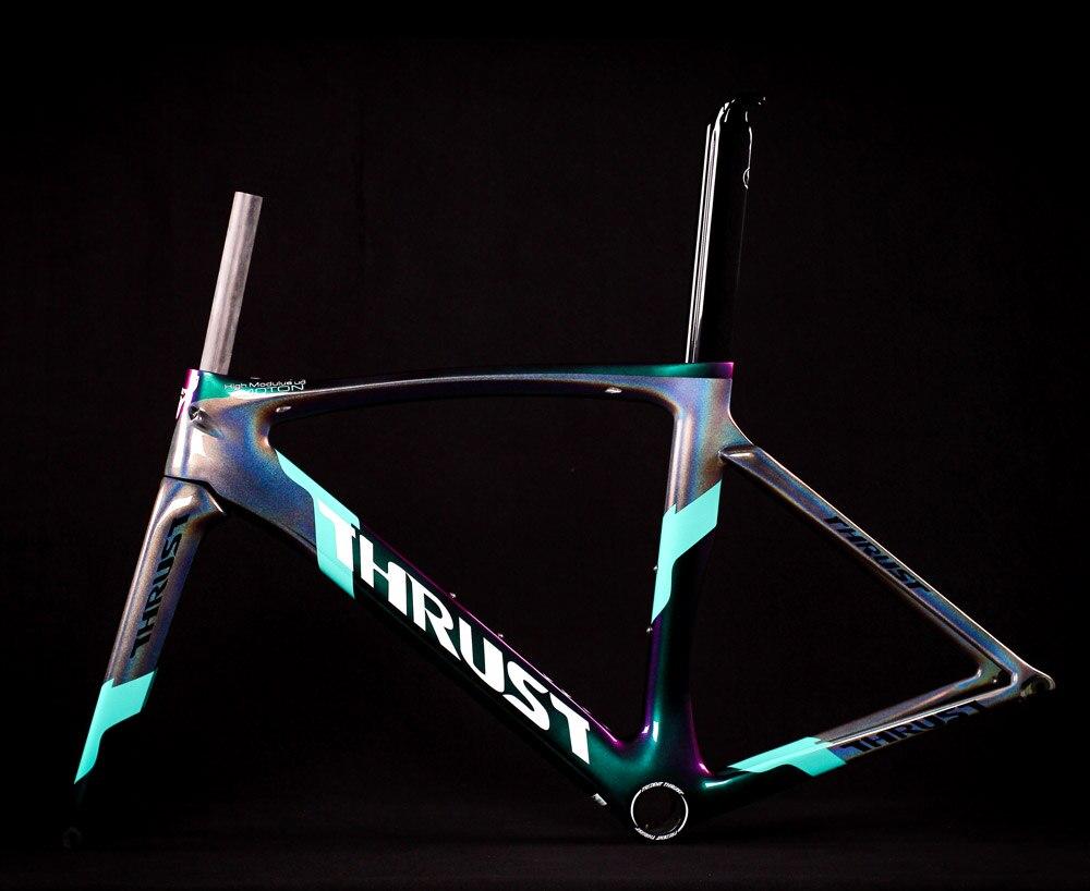 2019 thrust bike carbon road frame bicycle frame chameleon color frameset bicicleta frame carbon fiber cheap