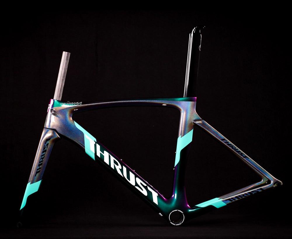 2019 thrust bike carbon road frame bicycle frame chameleon color frameset bicicleta frame carbon fiber cheap carbon road bike