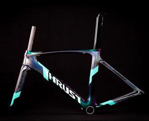 Image 1 - 2020バイクカーボン道路フレーム自転車フレームカメレオン色フレームセットbicicletaフレーム炭素繊維安価なカーボンロードバイク