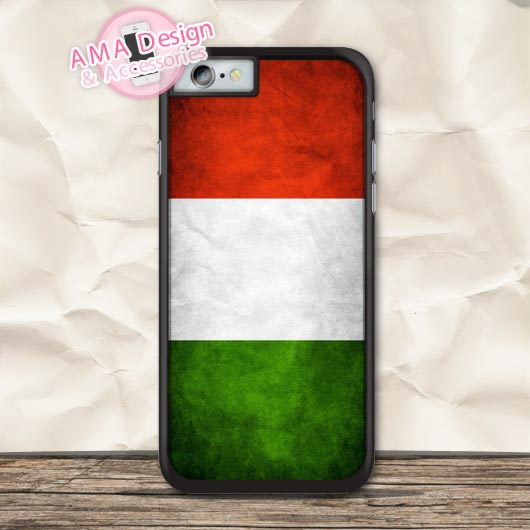 Retro National Flag Italy Protective Case For iPhone X 8 7 6 6s Plus 5 5s SE 5c 4 4s For iPod Touch