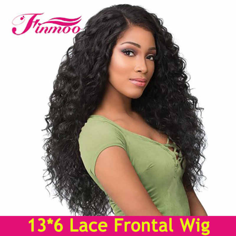 13*6 Lace Front Human Hair Wigs Curly Human Hair Wig For Black Women Pre Plucked Brazilian Remy Hair Deep Part Lace Front Wig