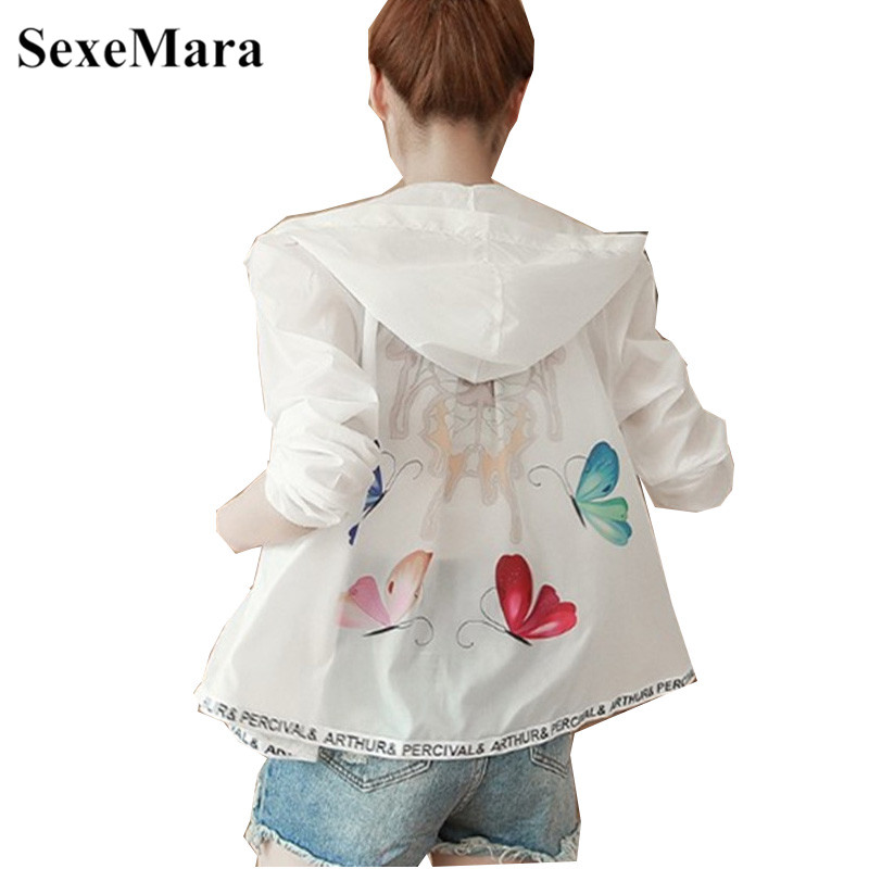 Sexemara Wild-Jacket Thin Korean-Version Female Long-Sleeved Summer New The of Section