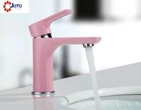 Nordic Basin Faucet Bathroom Pink Personality Faucet
