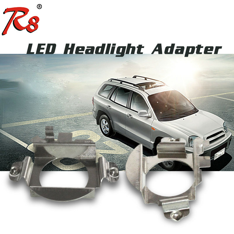 2 PCS Car LED Headlight H7 Bulb Installastion Necessary Lamp Holder Clips Adapter For Ford Citroen