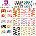 2016 B067-077 new LARGE 11sheet/set (11 SHEET IN 1)Water decal Nail Stickers french design nail sticker For nail accessories