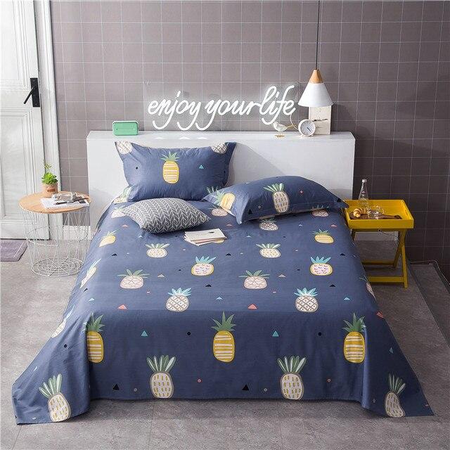 couleur ananas motif drap plat 100 coton ensemble de literie drap de lit pour enfant