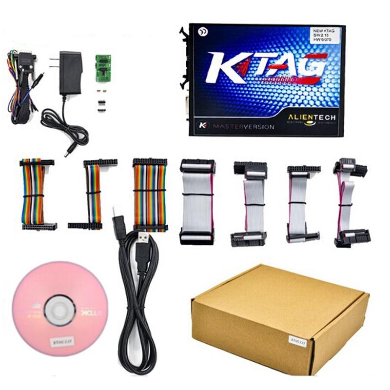 ФОТО 2Pcs/Lot Full Set KTAG V2.13 Unlimited Version K TAG Master ECU Programming Tool K-TAG Hardware V6.070 by DHL Free Shipping