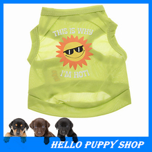 Amazing New Pet Puppy Summer Shirt Small Dog Cat Pet Clothes Vest T Shirt Pet Accessories Free Shipping