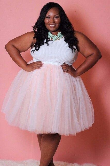 aliexpress : buy plus size tutu skirt ball gown knee length