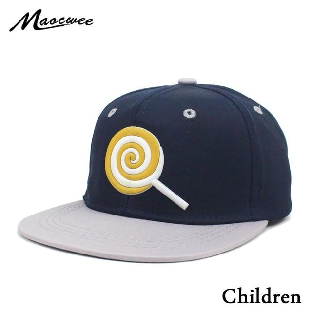 154a1af4b11 New Children Hip Hop Lollipop Baseball Cap Spring and summer kids Sun Hat  Boys Girls snapback Caps for 2-8 years old Bones