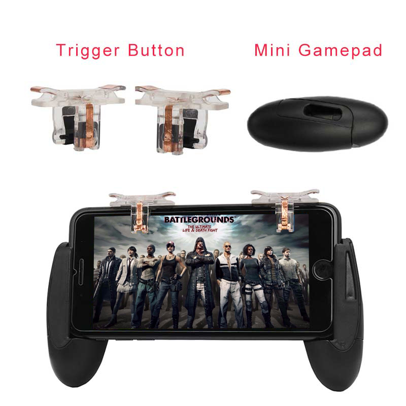 For PUBG STG FPS Game Trigger Cell Phone Mobile Controller Fire Button Gamepad L1R1 Aim Key Joystick for iphone Android
