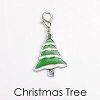 New Fashion 20pcs DIY Colorfized ChristmasTree Charms DIY Bracelet Pendant Wholesale Jewelry