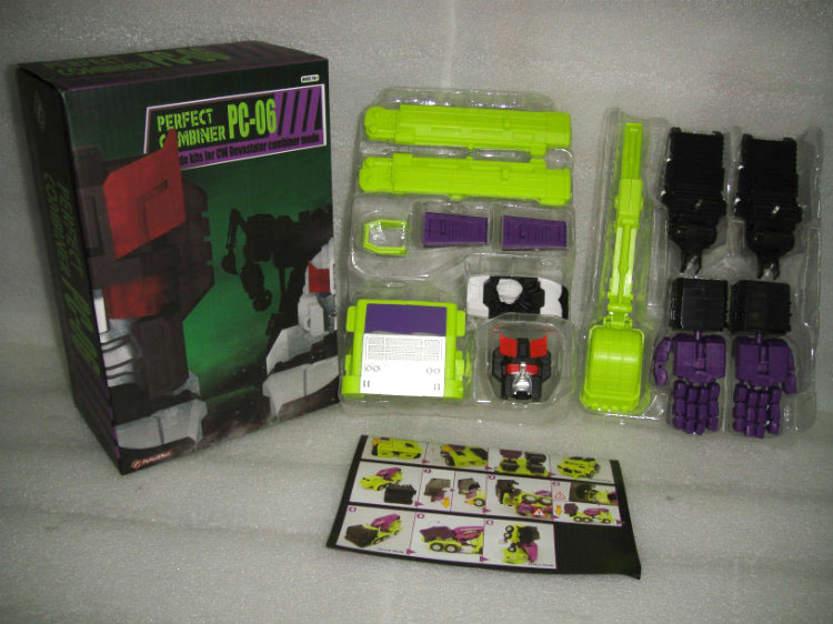 (IN STOCK)TOY PerfectEffect PE PC-06 Perfect Combiner Upgrade Kit for CW Devastator combiner mode