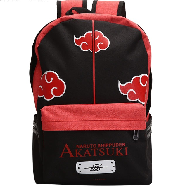One Piece Naruto Uchiha Sasuke Children Cartoon Canvas School Backpack For Teenagers Men Women Bag Kids Mochila Laptop Bags
