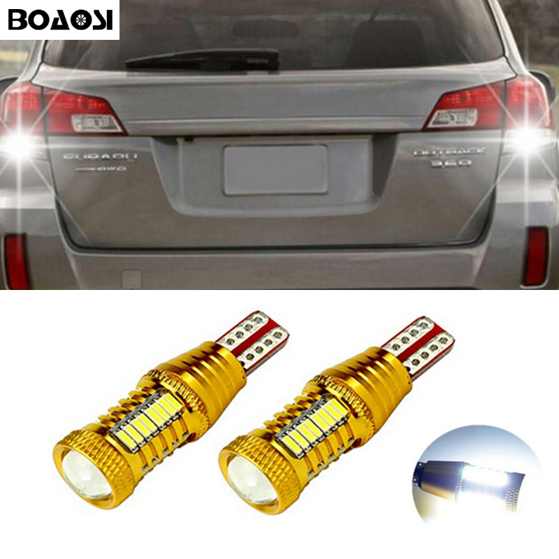 2x T15 W16W LED CANBUS Samsung 4014 Chip High Power Backup Reverse Light For Subaru XV Forester 2013-2014 Outback 2015