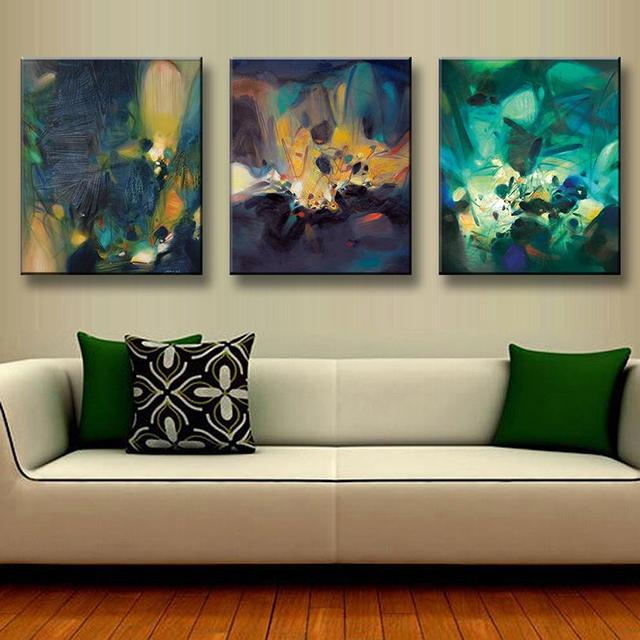 3 Pcs/Set Modern Abstract Oil Painting Office Wall Pictures Oil Painting On  Canvas Wall