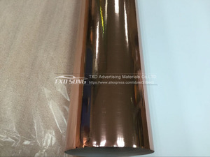 Image 2 - Gute qualität 1,52x20 mt/Rolle Wasserdicht UV Geschützt rose gold Spiegel Chrom vinylverpackung Blatt Film Auto aufkleber Aufkleber Air bubbules