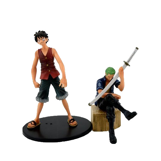 Chanycore Anime ONE PIECE DXF Luffy & Zoro 2pcs/set NEW WORLD Action Figures PVC onepiece toys doll model collection