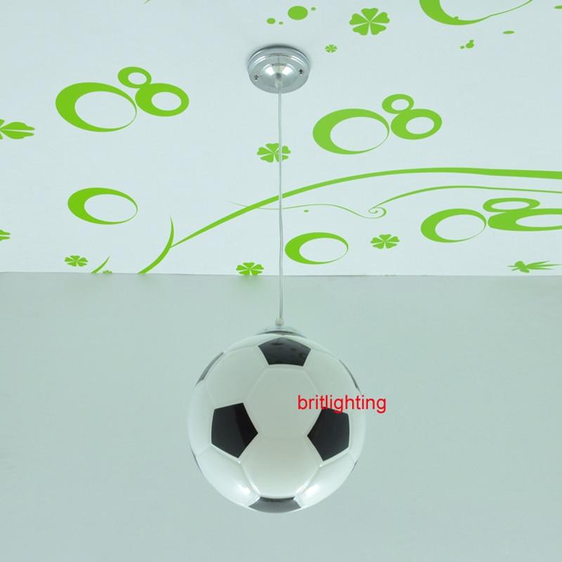 Moderne hanger lampen voetbal verlichting voor kamer kind moderne ...