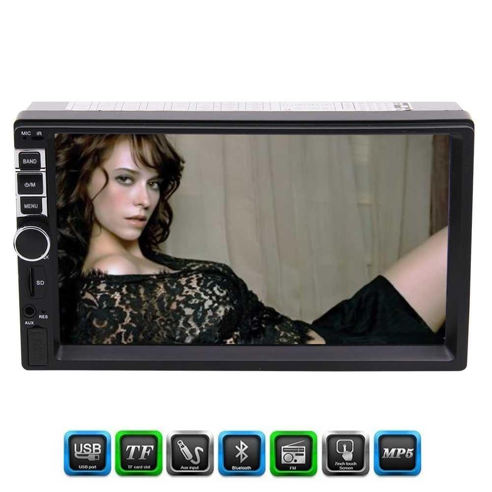 Eincar Double 2 Din MP5 Player 7'' In Dash FM Radio Audio 1080P Video Player Bluetooth/Radio/AV in/Music/USB/Photo/Movie/control