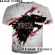bd4074a6011f3 PLstar Cosmos Game of Thrones Printed 3D Men T-shirt casual men tshirt Tops  House Stark of Winterfell badge unisex t shirt