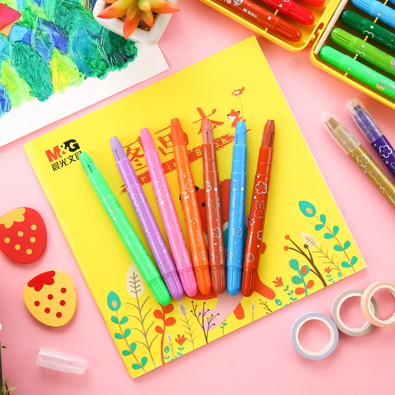 Cute Kawaii Cartoon Crayons Oil Pastel 12 24 36 Colors Child Safety Non toxic Oil Pastel Graffiti Student Art Supplies FGMW7904
