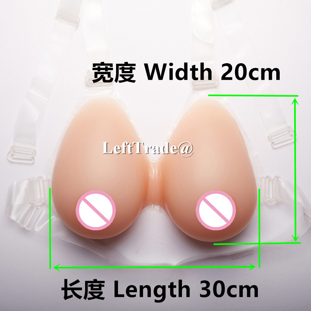 G cup 2400g/pair realistic silicone breast form with straps for man cosplay to female fake large boobs 1000 g d cup nude skin tone fake silicone breast for crossdresser teardrop realistic artificial form boobs for man cosplay