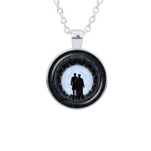 Westworld TV Series Necklace  | Glass Round sliver Pendant Link Chain