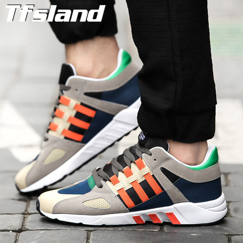 Tfsland Trend New Men Sneakers Breathable Male Sports Lace-Up Cortez Shoes For Men Mixed Colors Soft Comfortable Running Shoes
