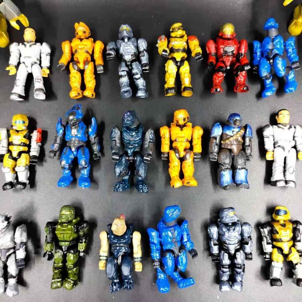 Single Sale Halo Building Blocks with Guns Monsters Humans