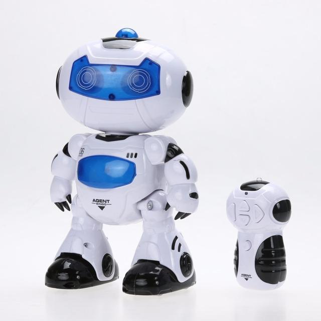 RC Brinquedo Robô de Controle Remoto Musical Eletrônico Caminhada Dança Lightenning Robô de Brinquedo Para As Crianças do Menino