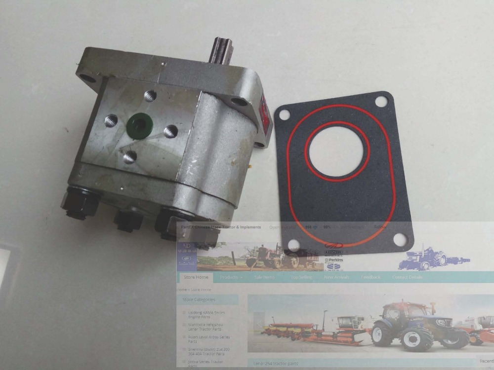 Gear pump CBN 306, the right rotation, no end oil outlet, long splined shaft, please check with us about the rotation when order