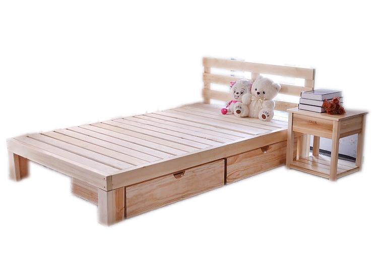 Env o gratis de pino de madera maciza cama doble 1 5 1 8 m for Envio de muebles