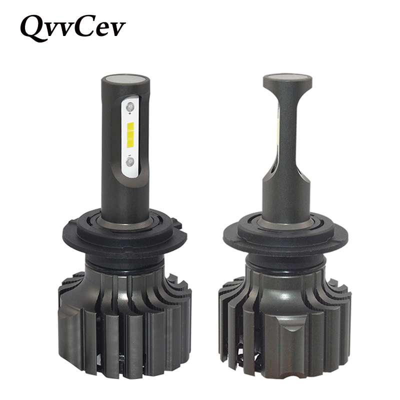 QvvCev Auto Lamp H7 LED H4 H11 H8 CSP H1 LED Car Headlight 72W 6000K High Low Beam 9006 HB4 H3 HB3 Auto Bulbs Automobiles Lights 1set csp chips car headlight h4 led bulbs high low beam 52w 9000lm automobiles suv headlamp cool white 6000k 12v 24v